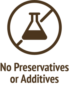 no preservatives additives brown icon do only good pet food