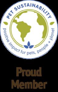 proud member pet sustainability coalition multi color icon