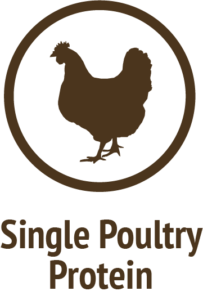 single chicken protein brown icon do only good pet food