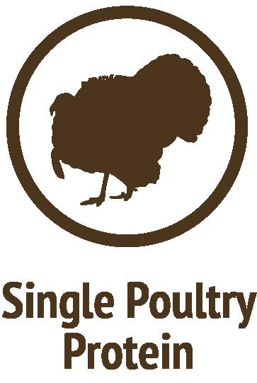 single turkey protein brown icon do only good pet food