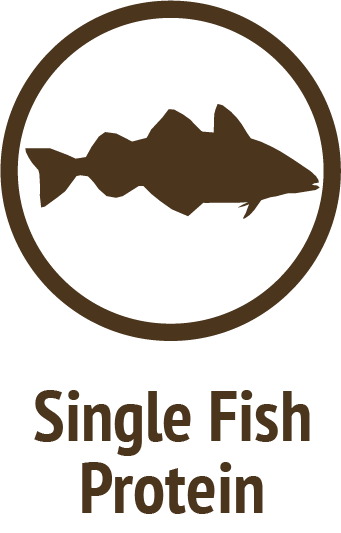 single white fish protein brown icon do only good pet food