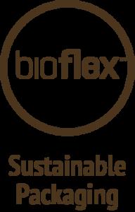 sustainable packaging bioflex brown logo