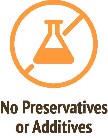 no preservatives additives orange icon do only good pet food