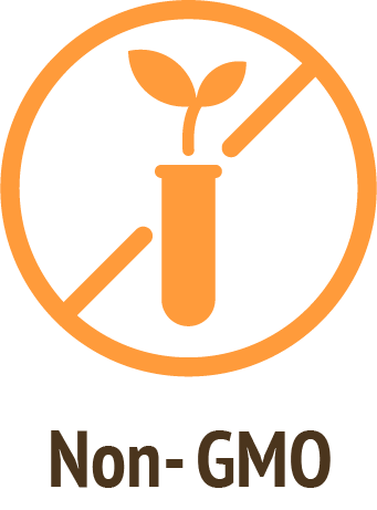 non GMO orange icon do only good pet food