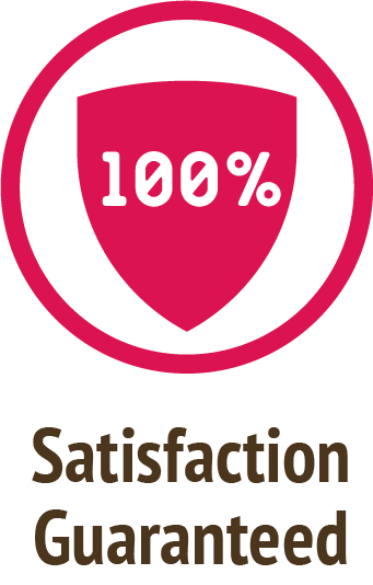 satisfaction guaranteed pink icon do only good pet food